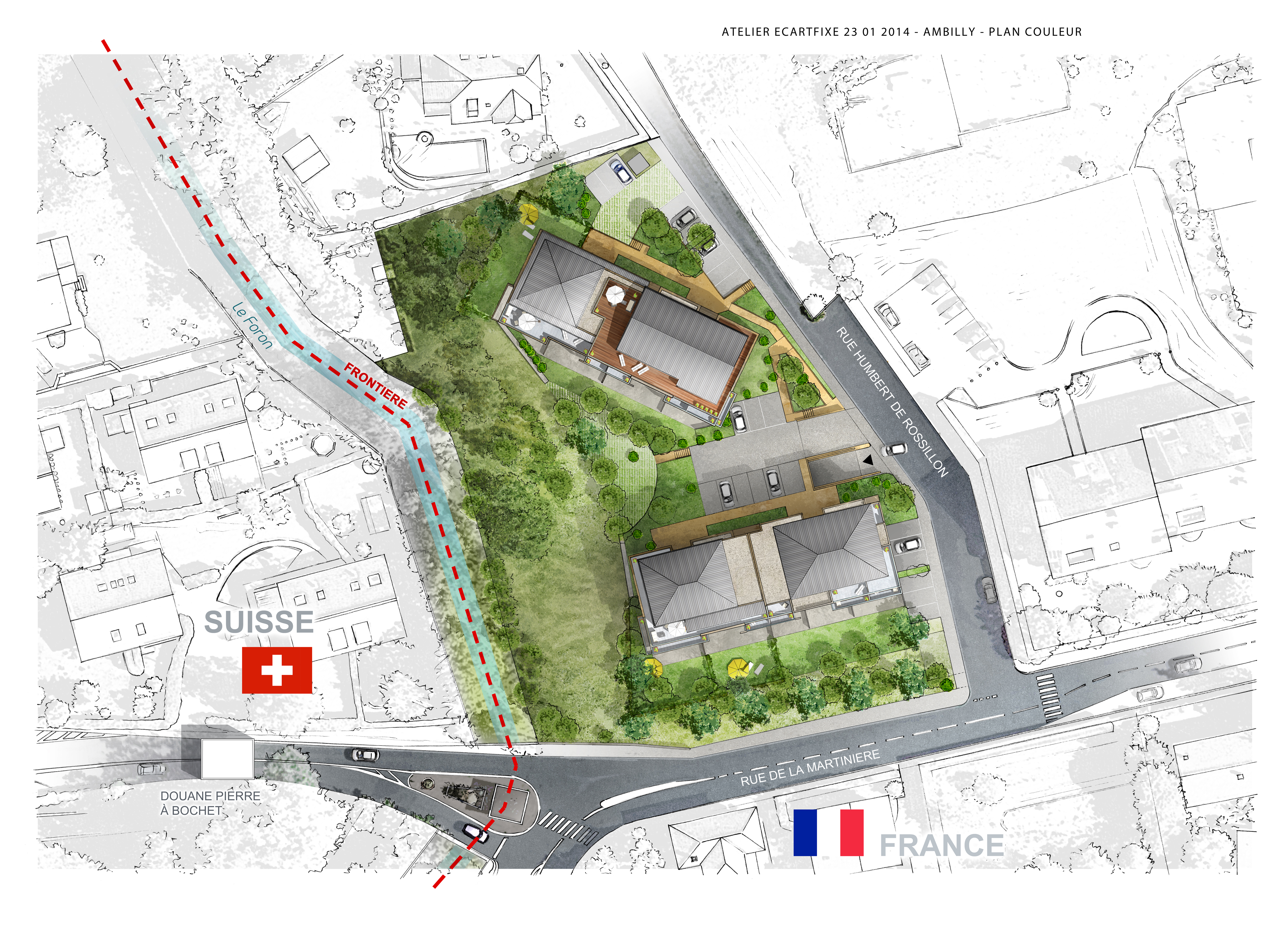 Programme immobilier ambilly le 74kara plan masse for Plan masse architecture